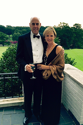 Dr. Pamela Davies and her husband