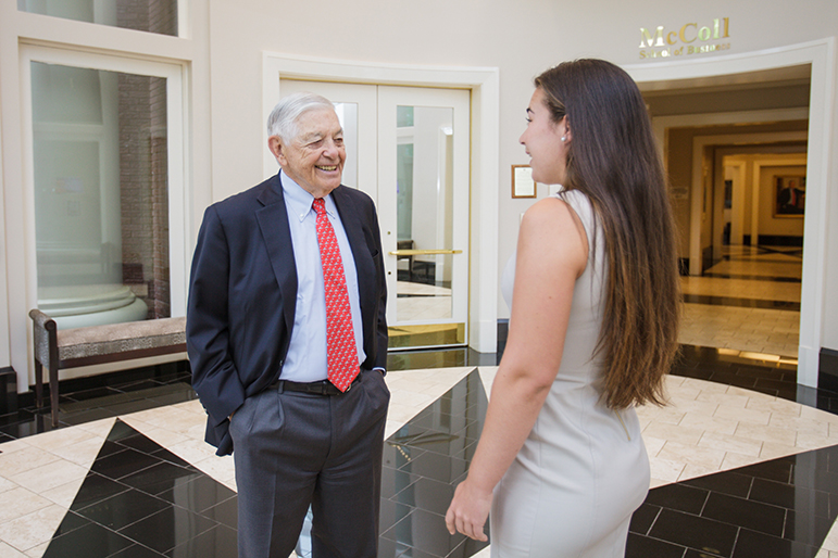 Student with Hugh McColl