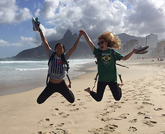 Communications majors in Rio