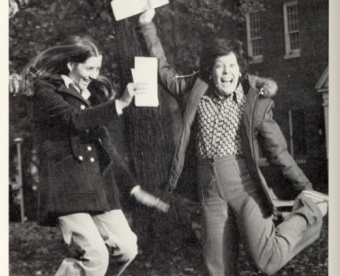 1977 students jumping