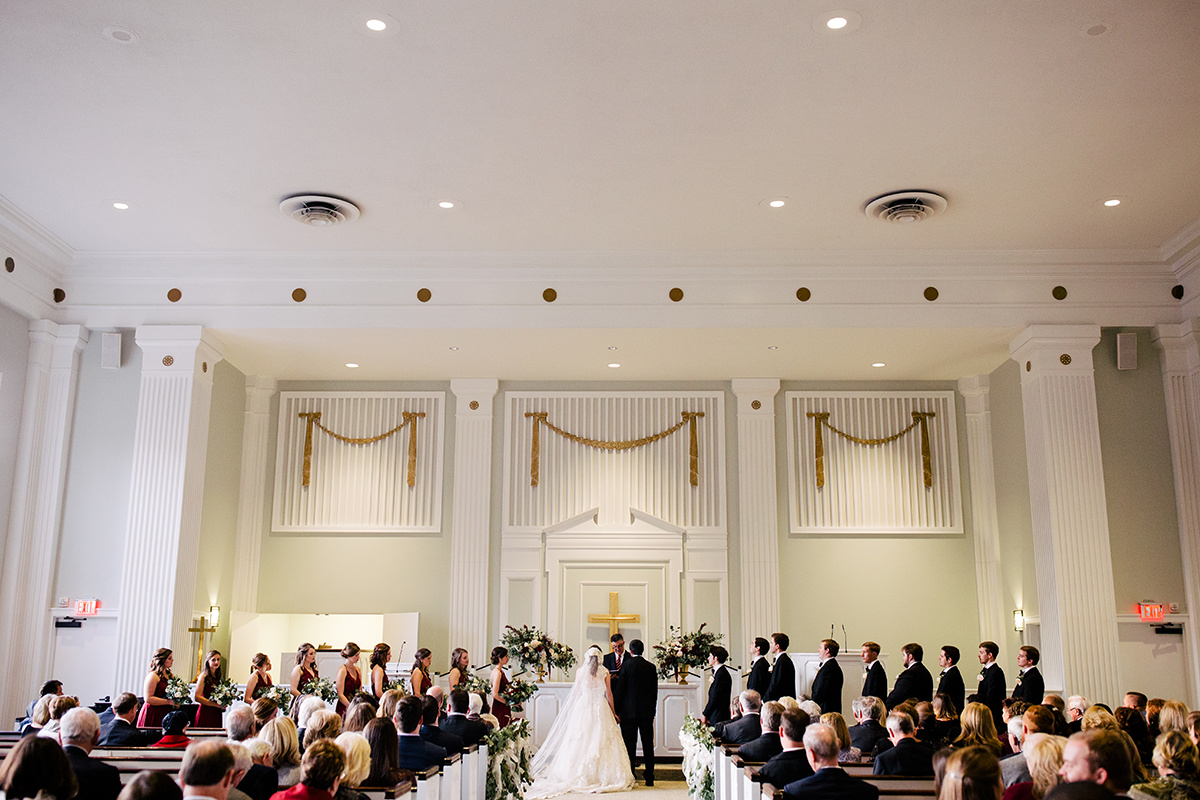 Wedding in Belk Chapel