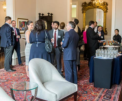 People networking at Estate Planners reception
