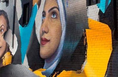 Street mural in Charlotte