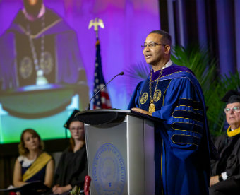 Daniel G. Lugo, the 21st president of Queens University of Charlotte.