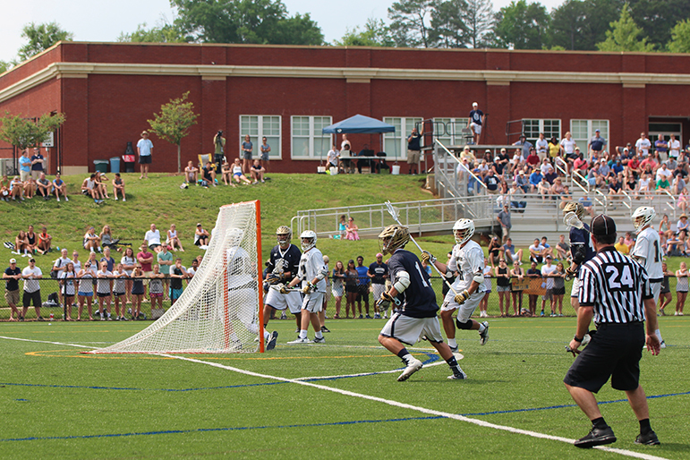 Lacrosse game at Queens Sports Complex