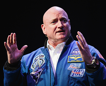 Scott Kelly at Queens