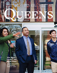 Summer 2019 Queens Magazine Cover with President Daniel Lugo